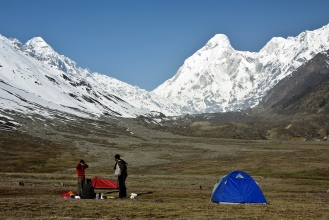 our camp at the base
