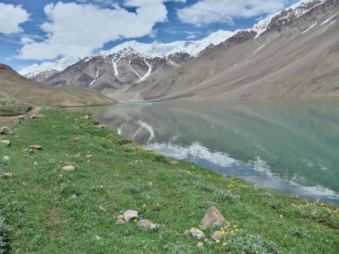 a lake called chandra tal (moon lake)